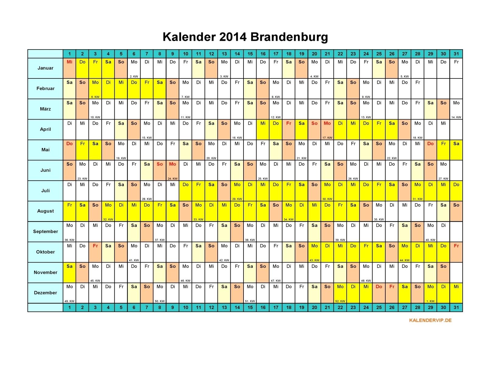 Kalender 2014 Brandenburg - KalenderVIP