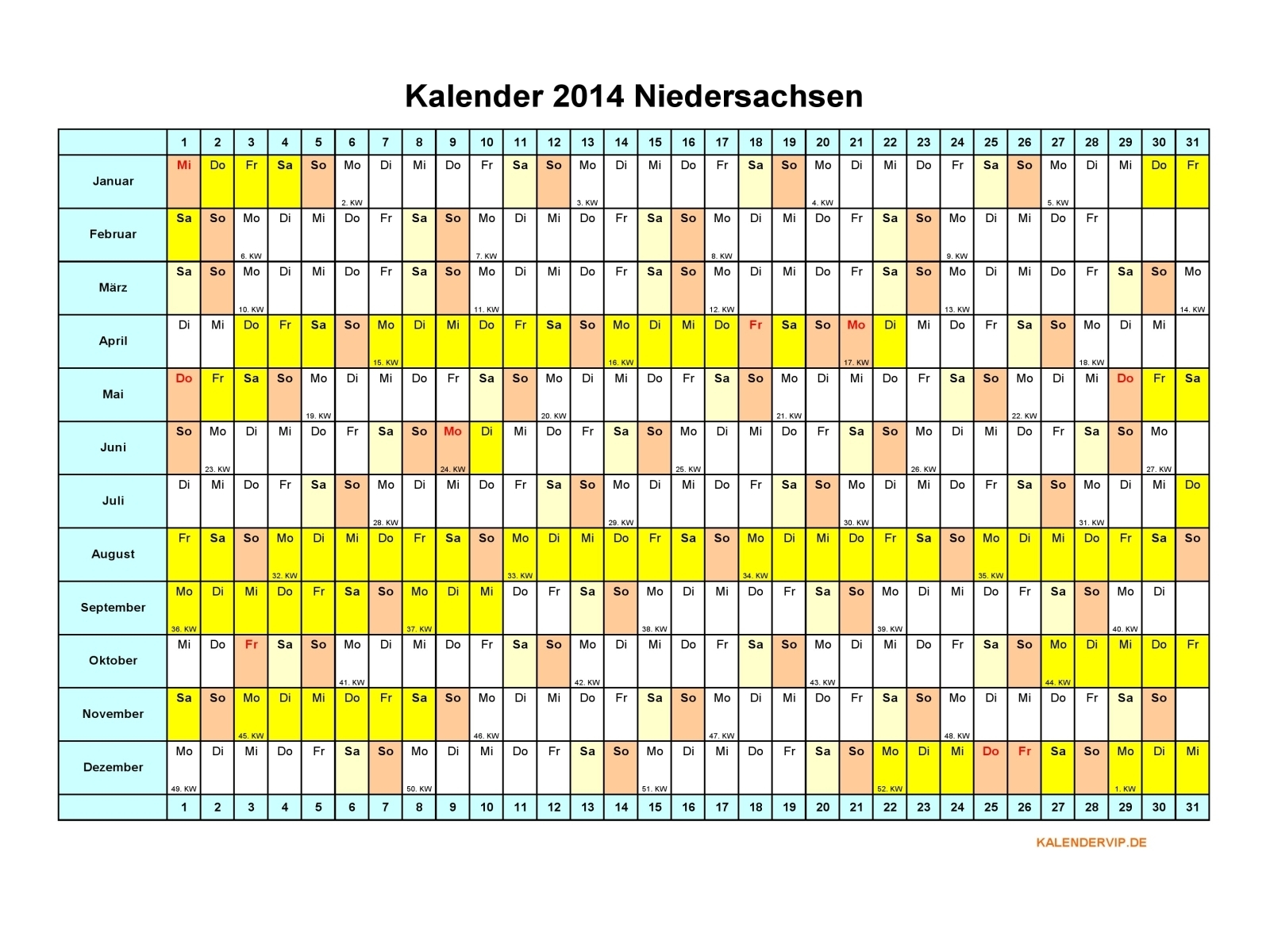 kalender 2014 niedersachsen kalendervip. Black Bedroom Furniture Sets. Home Design Ideas